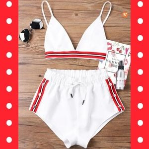 White Sporty Matching Set